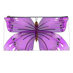 Purple Awareness Butterfly Pencil Case