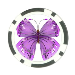 Purple Awareness Butterfly Poker Chip (10 Pack)