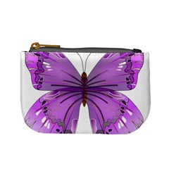 Purple Awareness Butterfly Coin Change Purse