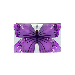 Purple Awareness Butterfly Cosmetic Bag (small)