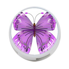 Purple Awareness Butterfly 4-Port USB Hub (One Side)