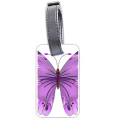 Purple Awareness Butterfly Luggage Tag (Two Sides)