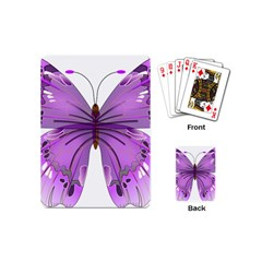 Purple Awareness Butterfly Playing Cards (Mini)