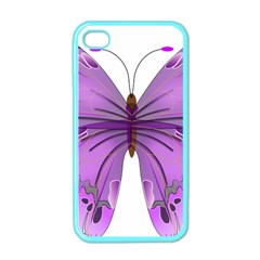 Purple Awareness Butterfly Apple iPhone 4 Case (Color)