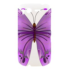 Purple Awareness Butterfly HTC Desire S Hardshell Case