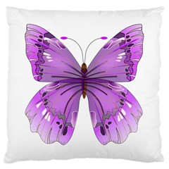 Purple Awareness Butterfly Large Cushion Case (single Sided)