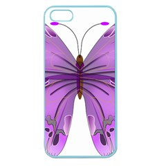 Purple Awareness Butterfly Apple Seamless Iphone 5 Case (color)