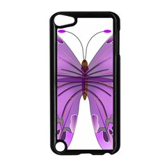 Purple Awareness Butterfly Apple iPod Touch 5 Case (Black)