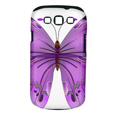 Purple Awareness Butterfly Samsung Galaxy S Iii Classic Hardshell Case (pc+silicone)
