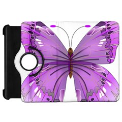 Purple Awareness Butterfly Kindle Fire HD 7  (1st Gen) Flip 360 Case