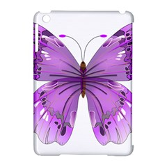 Purple Awareness Butterfly Apple Ipad Mini Hardshell Case (compatible With Smart Cover)