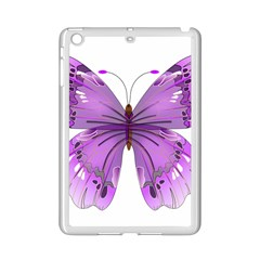 Purple Awareness Butterfly Apple iPad Mini 2 Case (White)