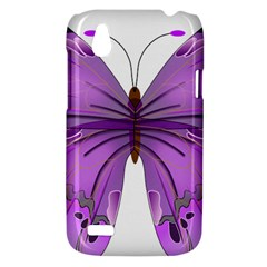 Purple Awareness Butterfly HTC Desire V (T328W) Hardshell Case