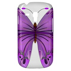 Purple Awareness Butterfly Samsung Galaxy S3 Mini I8190 Hardshell Case