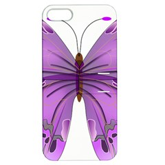 Purple Awareness Butterfly Apple iPhone 5 Hardshell Case with Stand