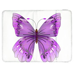 Purple Awareness Butterfly Samsung Galaxy Tab 7  P1000 Flip Case