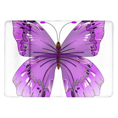 Purple Awareness Butterfly Samsung Galaxy Tab 10.1  P7500 Flip Case