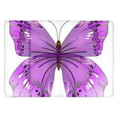 Purple Awareness Butterfly Samsung Galaxy Tab 8 9  P7300 Flip Case