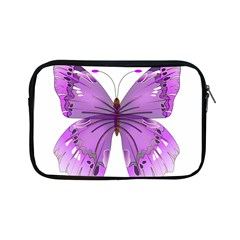 Purple Awareness Butterfly Apple iPad Mini Zippered Sleeve