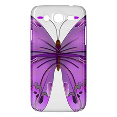 Purple Awareness Butterfly Samsung Galaxy Mega 5.8 I9152 Hardshell Case