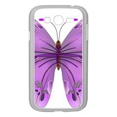 Purple Awareness Butterfly Samsung Galaxy Grand DUOS I9082 Case (White)