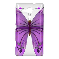 Purple Awareness Butterfly Sony Xperia SP M35H Hardshell Case
