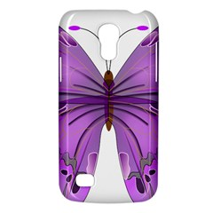 Purple Awareness Butterfly Samsung Galaxy S4 Mini (GT-I9190) Hardshell Case
