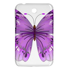 Purple Awareness Butterfly Samsung Galaxy Tab 3 (7 ) P3200 Hardshell Case