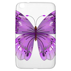 Purple Awareness Butterfly Samsung Galaxy Tab 3 (8 ) T3100 Hardshell Case