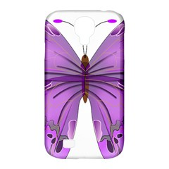 Purple Awareness Butterfly Samsung Galaxy S4 Classic Hardshell Case (pc+silicone)