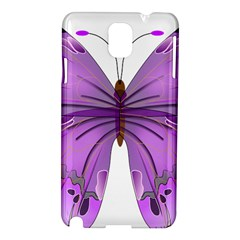 Purple Awareness Butterfly Samsung Galaxy Note 3 N9005 Hardshell Case