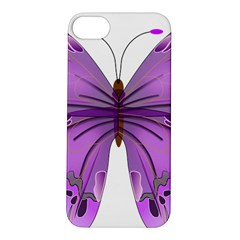 Purple Awareness Butterfly Apple Iphone 5s Hardshell Case
