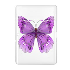 Purple Awareness Butterfly Samsung Galaxy Tab 2 (10.1 ) P5100 Hardshell Case