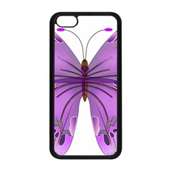 Purple Awareness Butterfly Apple iPhone 5C Seamless Case (Black)