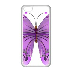 Purple Awareness Butterfly Apple iPhone 5C Seamless Case (White)