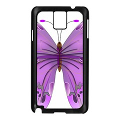 Purple Awareness Butterfly Samsung Galaxy Note 3 N9005 Case (Black)