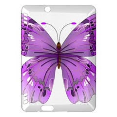 Purple Awareness Butterfly Kindle Fire Hdx 7  Hardshell Case