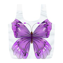 Purple Awareness Butterfly Reusable Bag (L)