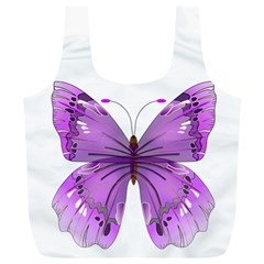 Purple Awareness Butterfly Reusable Bag (xl)