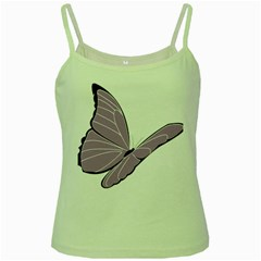 Purple Awareness Butterfly 2 Green Spaghetti Tank