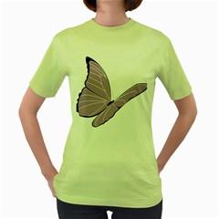 Purple Awareness Butterfly 2 Women s T-shirt (Green)