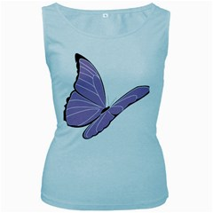 Purple Awareness Butterfly 2 Women s Tank Top (Baby Blue)