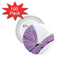 Purple Awareness Butterfly 2 1.75  Button (100 pack)