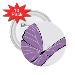 Purple Awareness Butterfly 2 2.25  Button (10 pack)