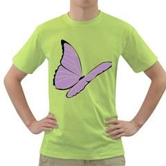 Purple Awareness Butterfly 2 Men s T-shirt (Green)