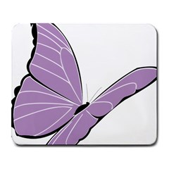 Purple Awareness Butterfly 2 Large Mouse Pad (rectangle)