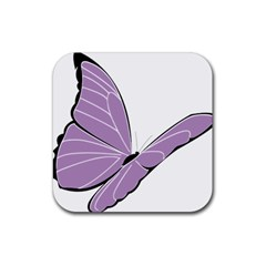 Purple Awareness Butterfly 2 Drink Coasters 4 Pack (square)