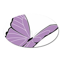 Purple Awareness Butterfly 2 Magnet (Oval)