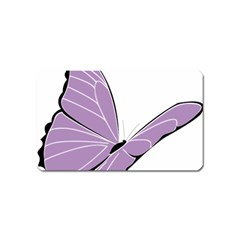 Purple Awareness Butterfly 2 Magnet (name Card)