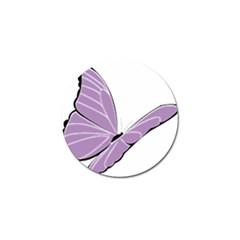 Purple Awareness Butterfly 2 Golf Ball Marker 4 Pack